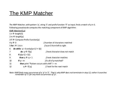 bitmap pattern matching algorithm kmp pattern matching algorithm