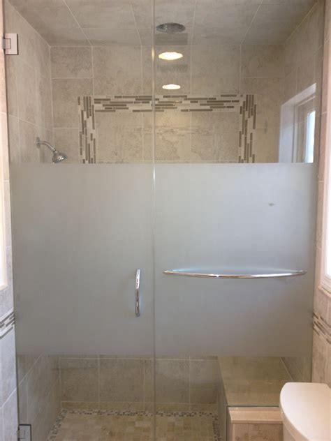 Frosted Shower Glass Doors 187 Frosted Units New Images Mirror Glass Co