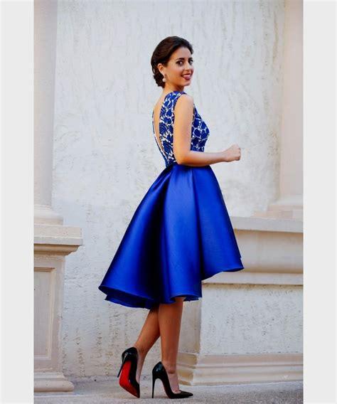 royal blue cocktail dress lace Naf Dresses