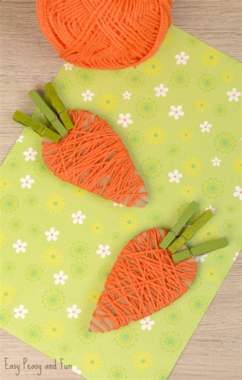 carrot craft for yarn wrapped carrot craft for easy peasy and
