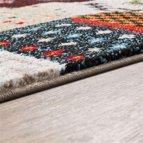 moderne kurzflorteppiche moderner teppich meliert gabbeh kurzflor abstrakt karo