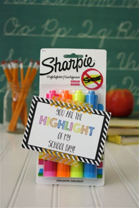 pencil pen gift tags printable back to school back to school gift 5 highlighters