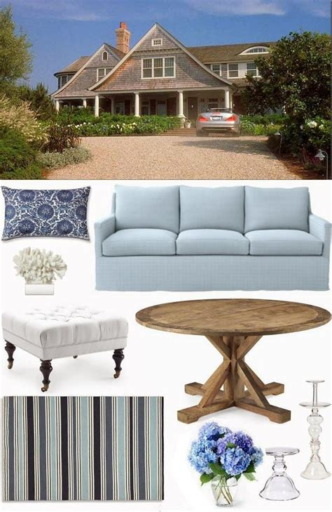 pale blue beige hamptons style beach cottage