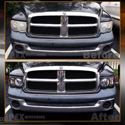 2002 Dodge Ram 1500 Lights by 2002 2005 Dodge Ram 1500 2500 3500 Black Headlights