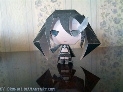 Black Rock Shooter Papercraft - black rock shooter papercraft by bronwe on deviantart
