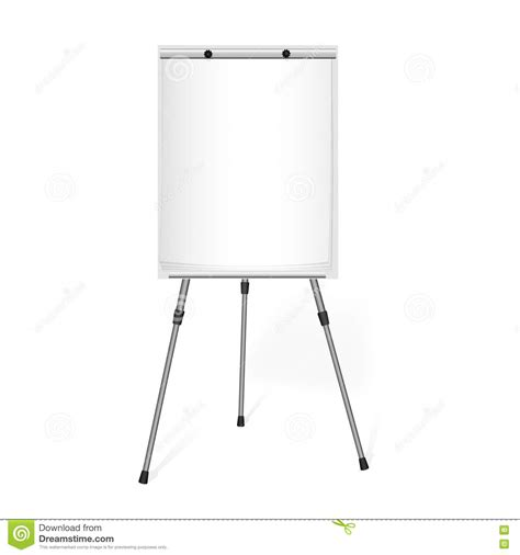 How To Make A Flip Chart With Paper - flip chart with a blank sheet of paper in the office