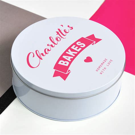 personalised biscuit tin by delightful living