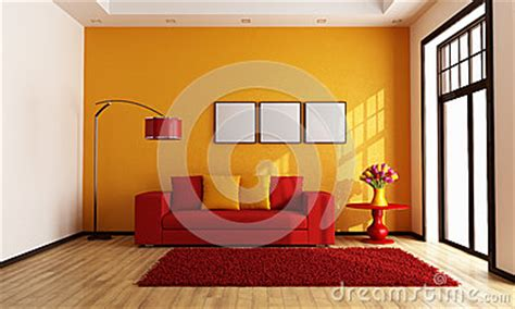 red and orange living room red and orange living room stock images image 28662354
