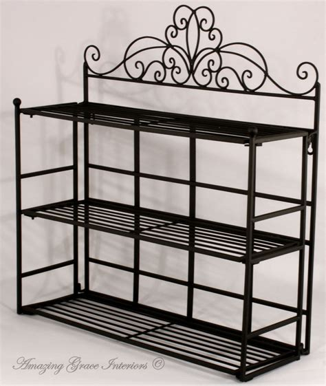 Metal Bathroom Wall Shelves Shabby Chic Black Metal Wall Shelf Storage Unit Display Rack Bathroom Kitchen Ebay