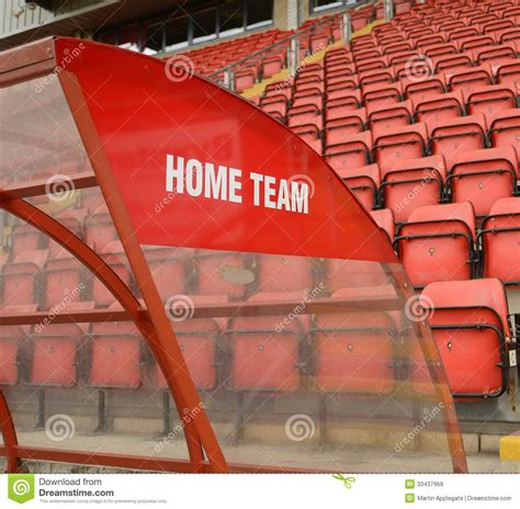home team dugout stock image image of spot team arena