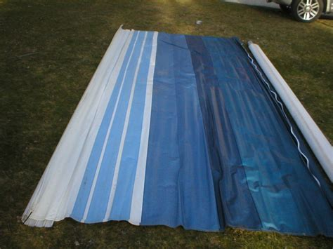 replacement awning fabric for cers 17 rv trailer camper replacement factory awning fabric