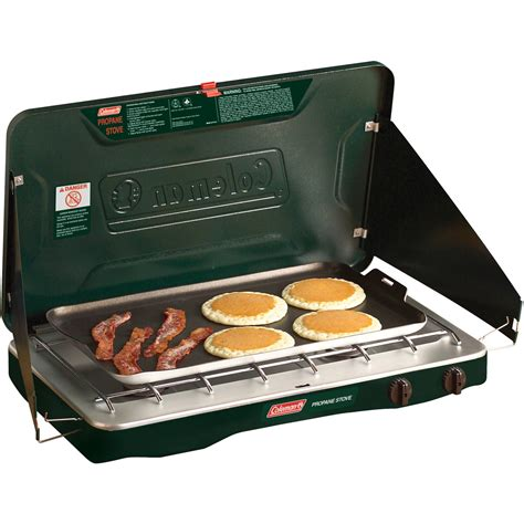 2 Burner Gas Cooktop Propane Coleman Matchlight 10 000 Btu 2 Burner Propane Stove With
