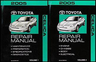 vehicle repair manual 2005 toyota celica free book repair manuals 2005 toyota celica repair shop manual 2 volume set original