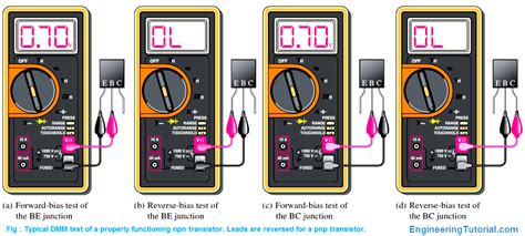 npn transistor testing using multimeter testing a transistor with a digital multimeter engineering tutorial