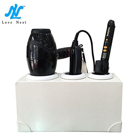 Hair Dryer Holder Bag nest hair dryer holder hair dryer organizer rack stand white personal snake pu leather