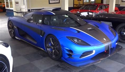 koenigsegg one 1 doors matte blue koenigsegg one 1 scooped before delivery