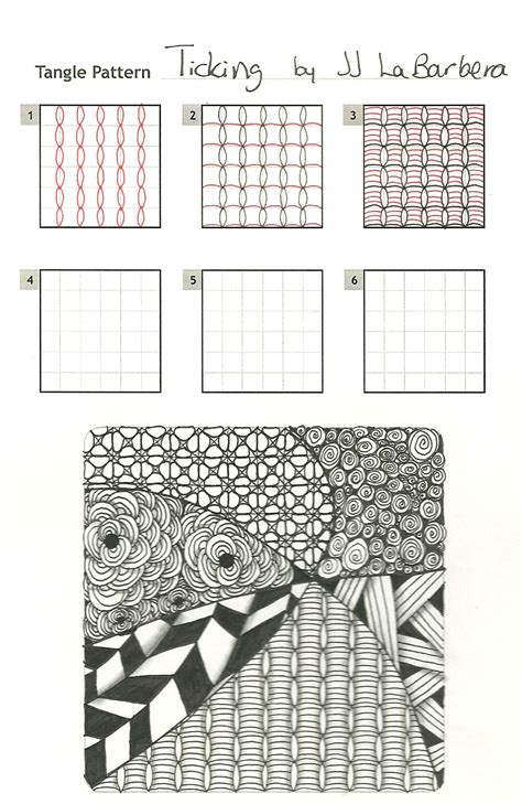 zentangle pattern bales tinker tangles new pattern ticking