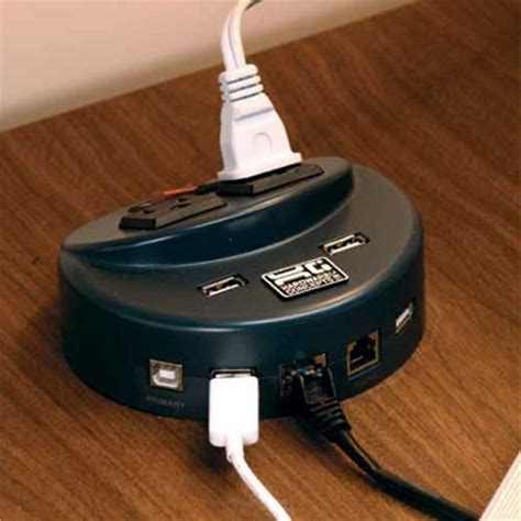 desk outlets power and data distribution brain desktop data and power hub