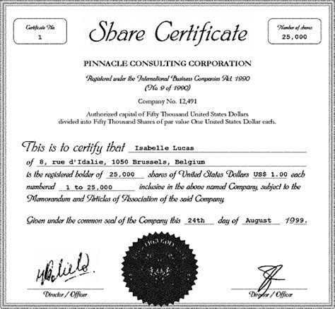 shareholder certificate template finding a shareholder transaction expert commercial and