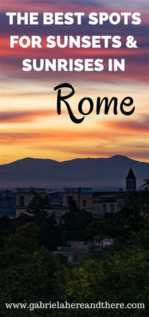 best places to go out in rome the best places for sunset photos in rome