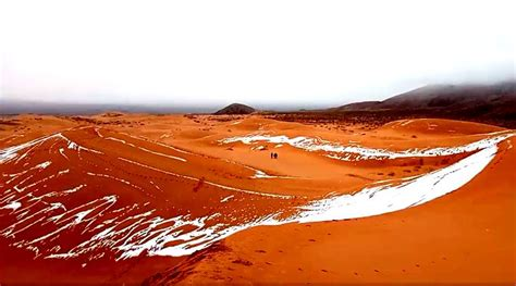 sahara snowfall snowfall in the sahara desert the world s hottest desert briefly turned into a winter