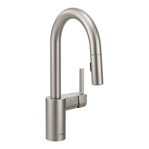 moen terrace spot resist stainless 1 handle kitchen faucet moen align single handle bar faucet featuring reflex in