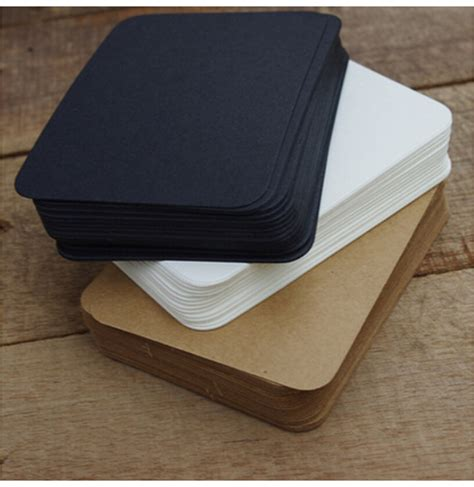 Paper Pads For Card - 20 pcs lot black white kraft paper memo pad note pads