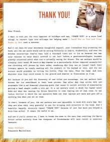 Thank You Letter For With Icpot Thank You Letter Medium Large