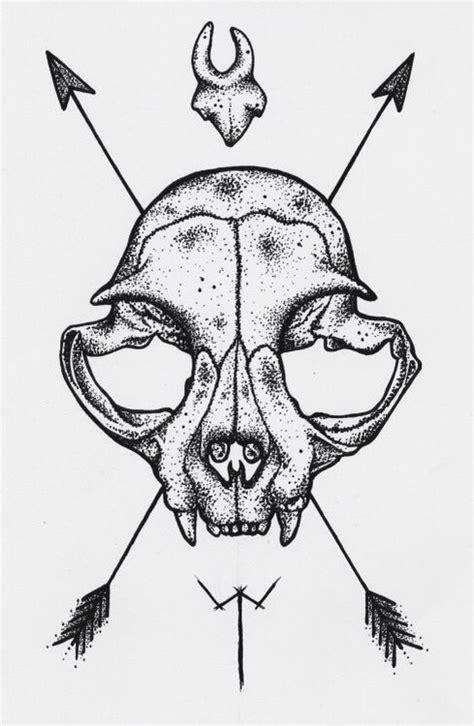 cat tattoo flash cat skull tattoo google search art pinterest cat