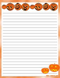 Halloween Writing Paper Template Halloween Fall Harvest Stationery Free Printable Fall