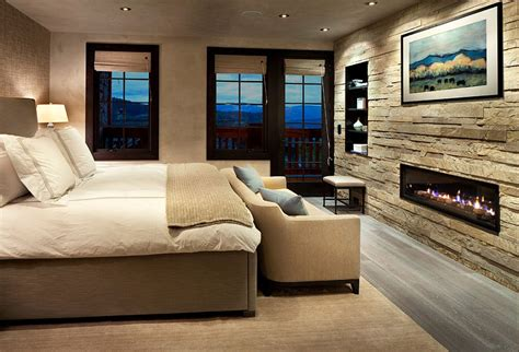 rock wall in bedroom stone accent wall brings textured elegance to the modern
