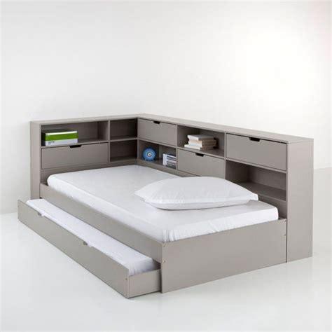 lit avec tiroir rangements et sommiers yann la redoute