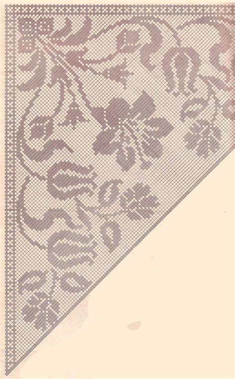 uncinetto schemi fiori crochet scialle a fiori filet schema tel kırma