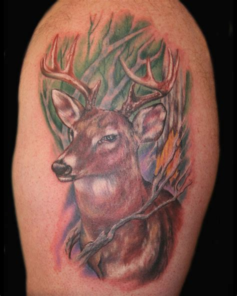 deer hunter tattoo design 55 ultimate deer tattoos for and