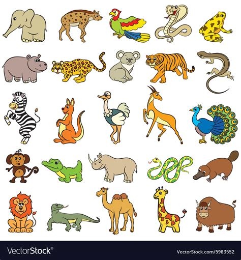 Animals Collection zoo animals collection royalty free vector image