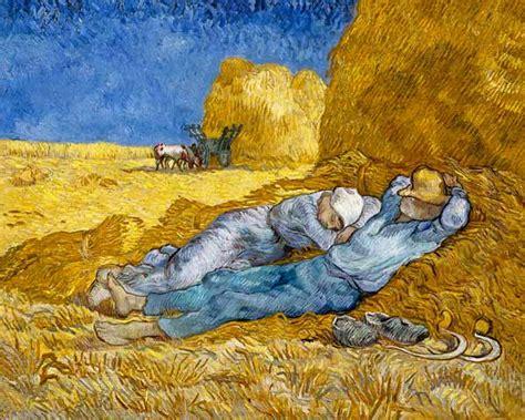 la siesta de los cesinos durmiendo la siesta gogh 1890