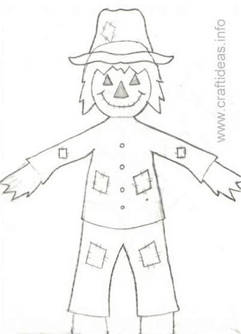 scarecrow template scarecrow pattern for preschool images