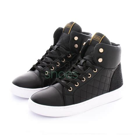 guess that sneaker sneakers guess janis black flja44ele12 escapeshoes