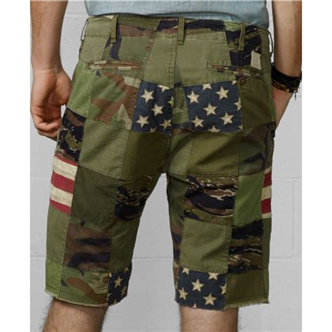 Ralph Patchwork Shorts - denim supply ralph patchwork chino shorts in