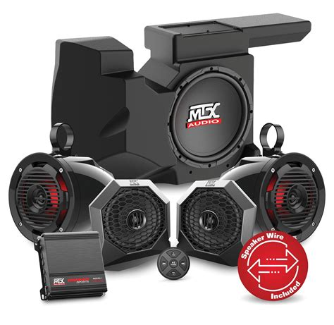 Speaker Bluetooth Subwoofer rzrbt4 bluetooth audio system for polaris rzr xp1000 and