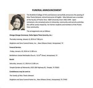 funeral resolution template funeral notice template 12 free word excel pdf psd