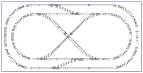 layout lop 4 x 8 fastrack layout o gauge railroading on line forum