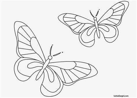 disegni farfalle e fiori farfalle da colorare