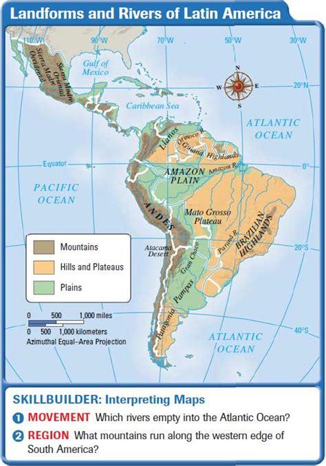 america map landforms america landforms and resources