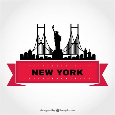 will template new york new york skyline template free vector 123freevectors
