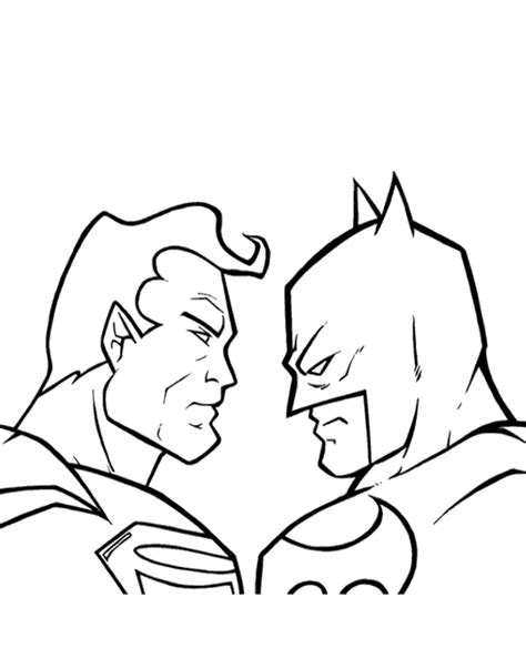 Batman V Superman Coloring Pages batman vs superman coloring pages coloring pages