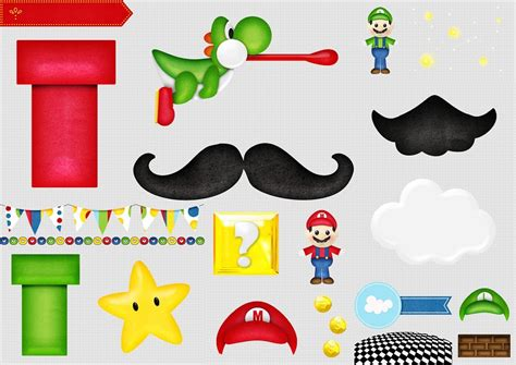 Free Mario Printables mario bros free printable scrapbook kit oh my