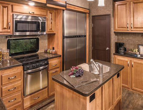 trailer kitchen cabinets durango gold g381ref fulltime luxury fifth wheel k z rv