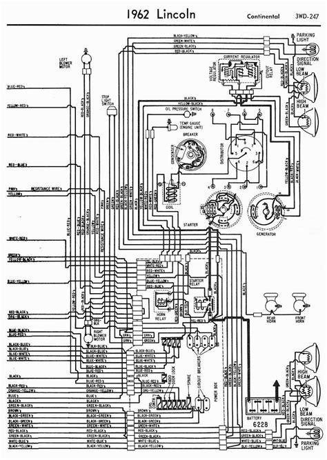 lincoln continental automobile wiring diagram  part
