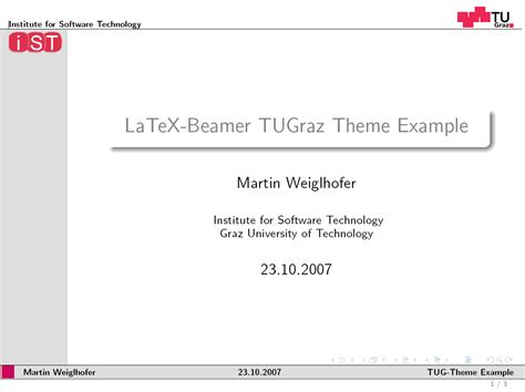 beamer documentation themes latex beamer